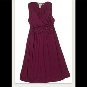 Max Studio Burgundy Sleeveless Dress L